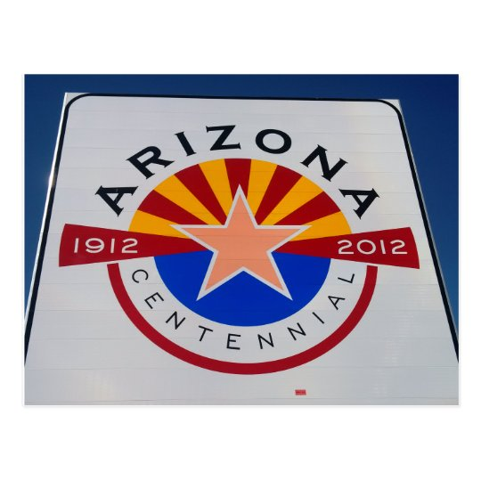 Arizona Centennial Sign Postcard
