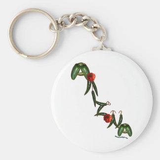 Arizona Chili Peppers Basic Round Button Key Ring