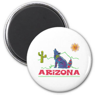 Arizona Coyote Howl Refrigerator Magnet