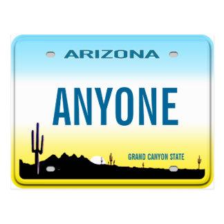 Arizona Custom License Plate Postcard
