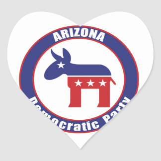 Arizona Democratic Party Heart Stickers