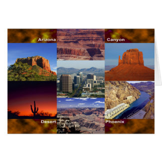 Arizona Desert Collage Card