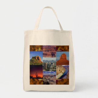 Arizona Desert Collage Grocery Tote Bag
