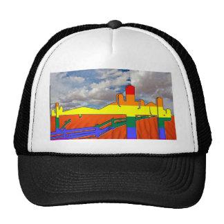 Arizona Desert GLBT Pride Mesh Hats