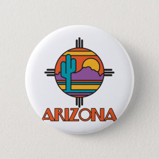 Arizona Desert Mandala 6 Cm Round Badge