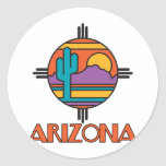 Arizona Desert Mandala Round Sticker