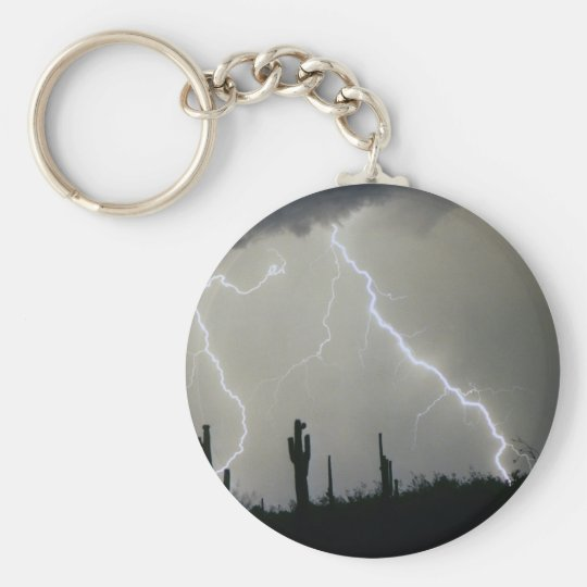 Arizona Desert Storm Basic Round Button Key Ring