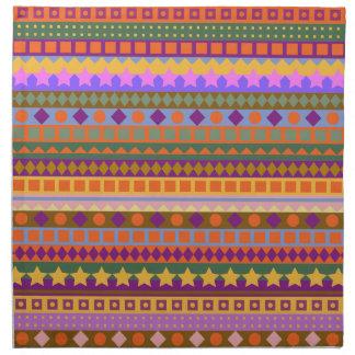 Arizona Dreams Aztec Desert Southwest Zigzag Napkin