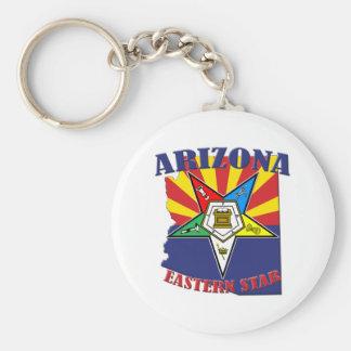 Arizona Eastern Star State Flag Key Ring