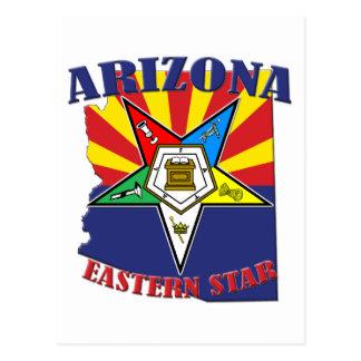 Arizona Eastern Star State Flag Postcard