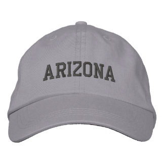 Arizona Embroidered Adjustable Cap Cool Grey Embroidered Hats