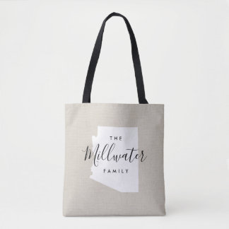 Arizona Family Monogram State Tote Bag