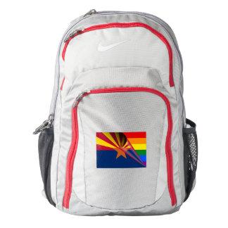 Arizona Flag Gay Pride Rainbow Backpack