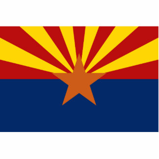 Arizona Flag Keychain Cut Out