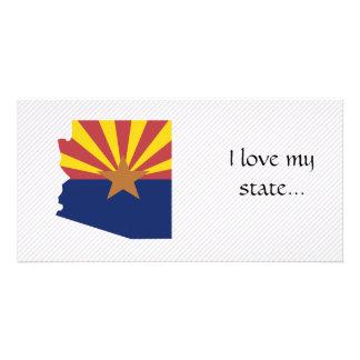 Arizona Flag Map Photo Card Template