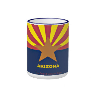 Arizona Flag Ringer Mug