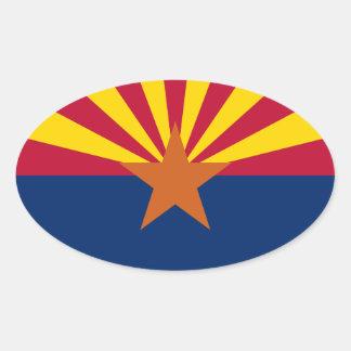 Arizona Flag Oval Sticker