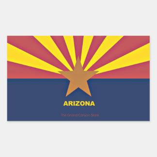 Arizona Flag Rectangular Sticker