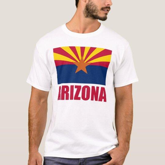 Arizona Flag Red Text T-Shirt