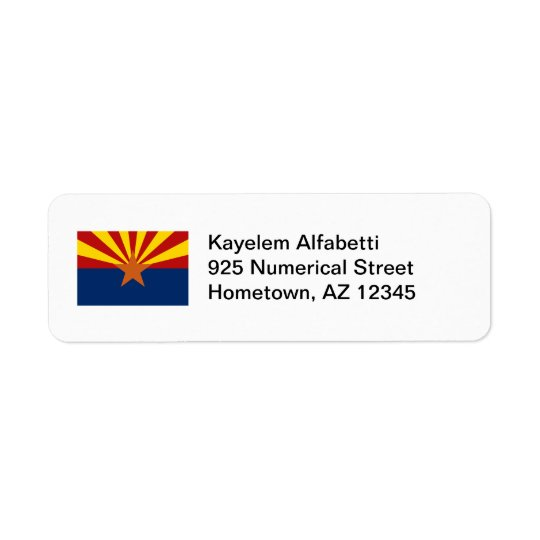 Arizona Flag Return Address Label