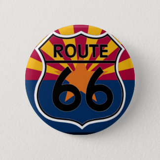Arizona flag Route 66 6 Cm Round Badge