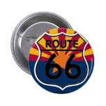 Arizona flag Route 66 Pinback Buttons