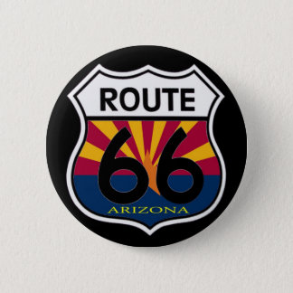 Arizona Flag Route 66 Shield 6 Cm Round Badge
