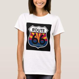 Arizona Flag Route 66 Shield T-Shirt