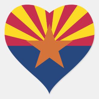 Arizona Flag Heart Stickers