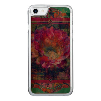 Arizona Flower iPhone wood case, graphic flower Carved iPhone 7 Case