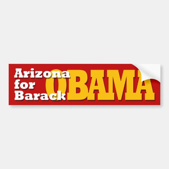 Arizona for Barack Obama bumper sticker