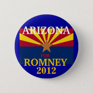 Arizona  for Romney 2012 6 Cm Round Badge