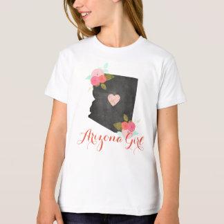 Arizona Girl Watercolor Floral & Moveable Heart T-Shirt