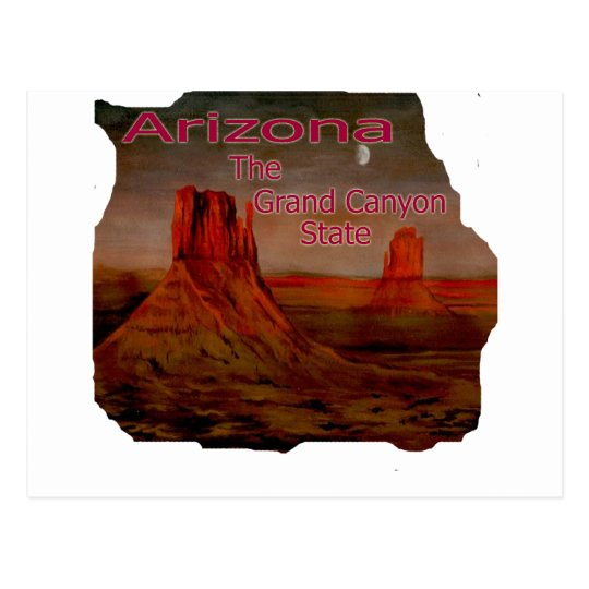 Arizona Grand Canyon State Picture Postcard