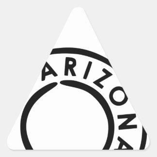 Arizona Grand Canyon State postmark Triangle Sticker