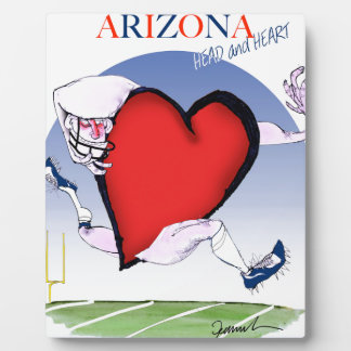 arizona head heart, tony fernandes display plaque