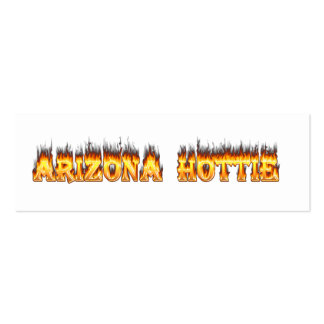 Arizona Hottie Fire and Flames Pack Of Skinny Business Cards
