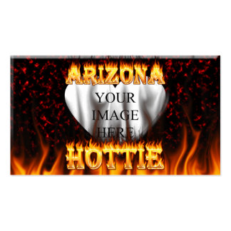arizona hottie fire and flames red marble pack of standard business cards