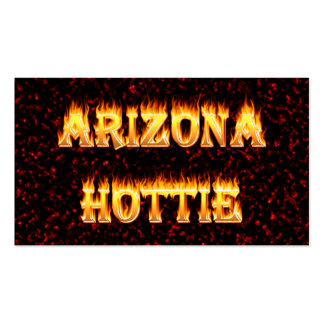 Arizona Hottie flames and fire Pack Of Standard Business Cards