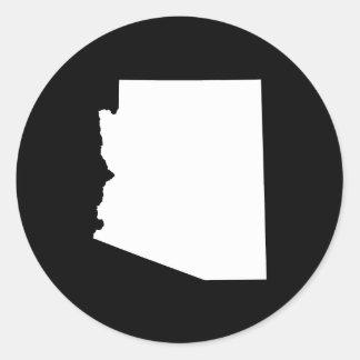 Arizona in White Classic Round Sticker