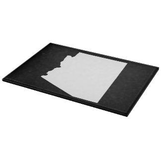 Arizona in White Cutting Board
