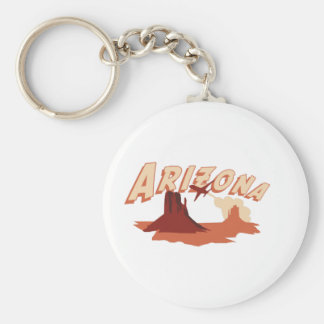Arizona Basic Round Button Keychain