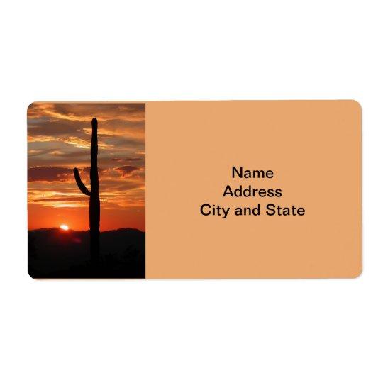 Arizona landscape sunset