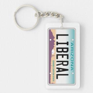 Arizona Liberal Vanity Plate Keychain