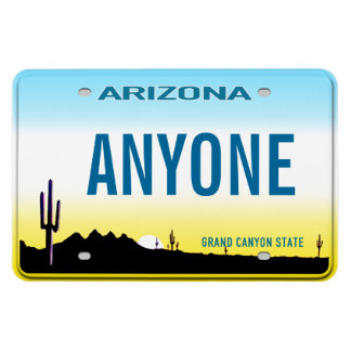 Arizona License Plate (personalized) Rectangular Magnets
