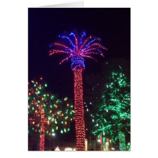 Arizona Lighted Palm Tree Christmas Card