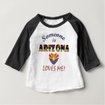 Arizona Loves Me Heart Flag Baby T-Shirt