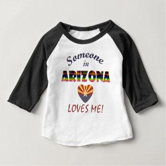 Arizona Loves Me Heart Flag Baby T-Shirt