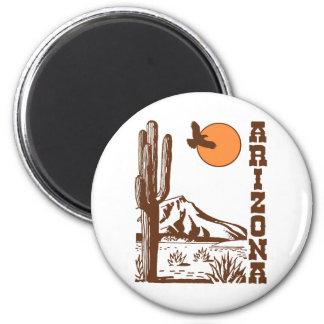 Arizona 6 Cm Round Magnet