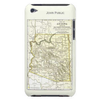 Arizona Map 1891 Towns, Rail, Indian Reservations Barely There iPod Cases